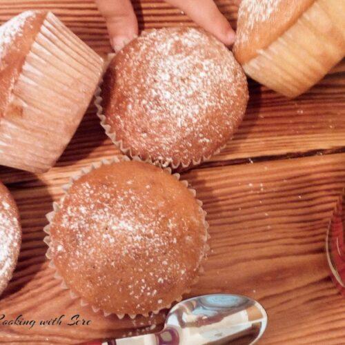 muffin con yogurt alla fragola