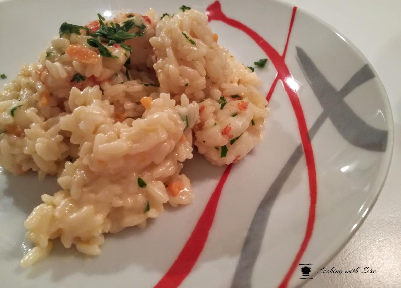 risotto con gamberetti