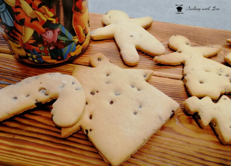 biscotti di natale con gocce di cioccolata