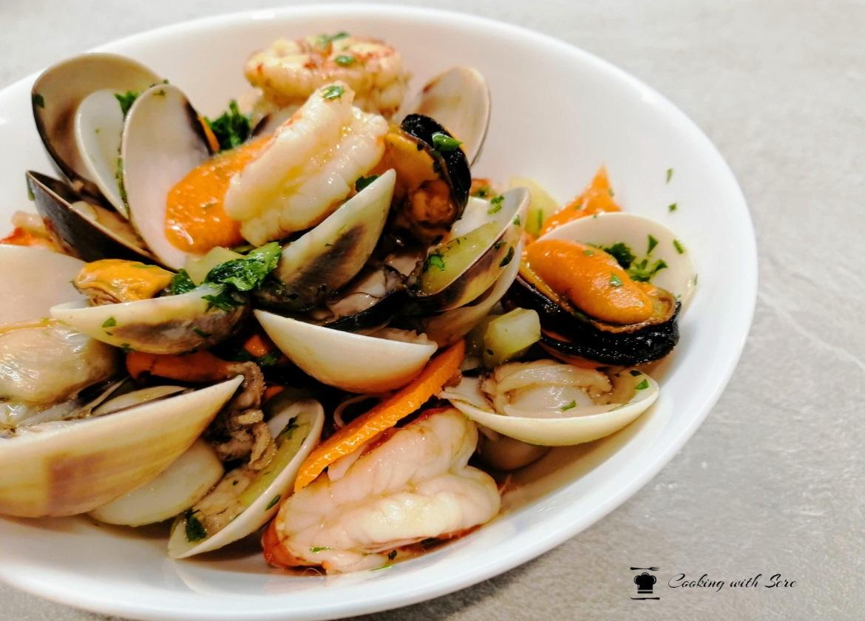 insalata di mare con pesce surgelato