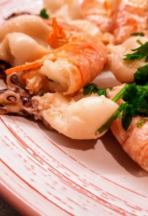 spiedini di pesce in padella