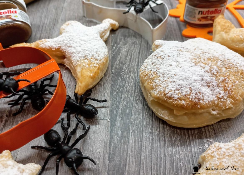biscotti di sfoglia alla Nutella versione Halloween